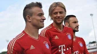 Xherdan Shaqiri beim Fotoshooting mit dem FC Bayern München