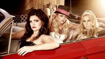 Hat sich an ihrem gewalttätigen Mann gerächt: Trendsetterin Miranda Lambert (Mitte) mit ihren Bandkolleginnen von Pistol Annies.HO
