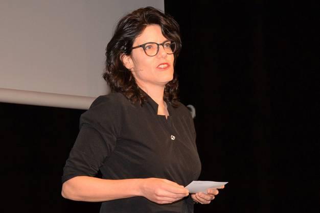 Neujahrsempfang für Unternehmerinnen und Unternehmer der Stadt Brugg und der Gemeinde Windisch im Campussaal; Barbara Horlacher, Stadtammann in Brugg