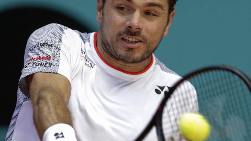 Stan Wawrinka steht in Madrid im Viertelfinal