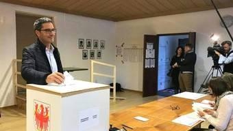 Südtirols Landeshauptmann Arno Kompatscher (SVP) stellt sich bei den Landtagswahlen in Südtirol zum ersten Mal der Wiederwahl.