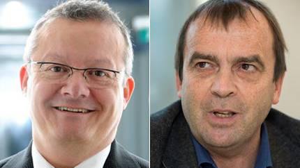 FDP-Kandidat Mario Delveccio und SP-Kandidat Jürg Caflisch.