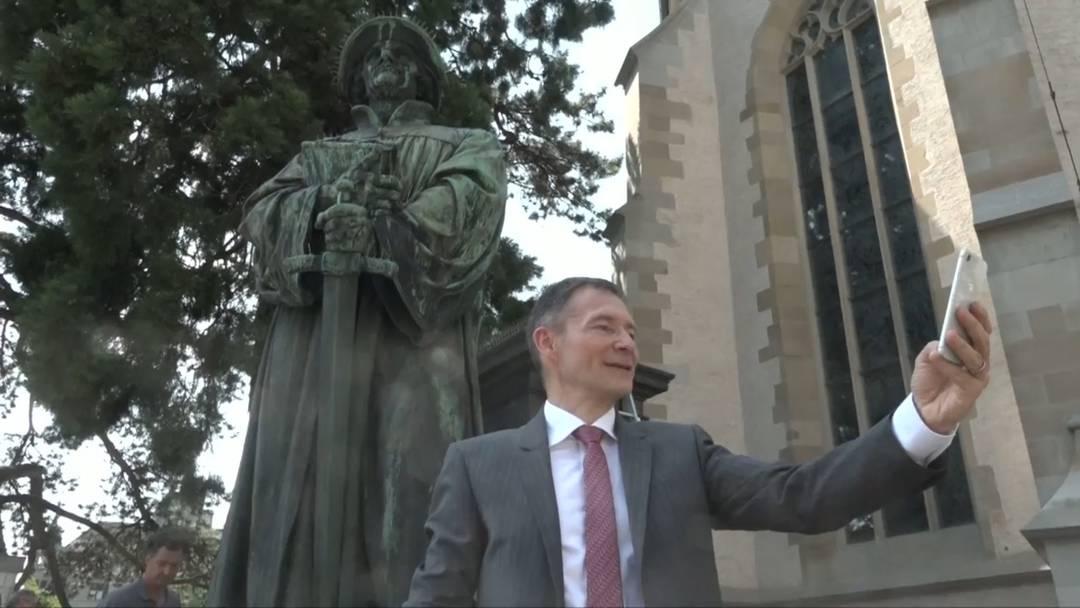 Züri-Fäscht: ein Selfie mit Zwingli