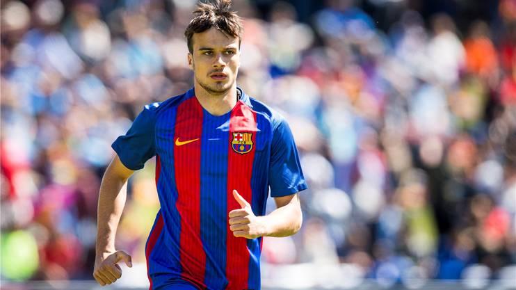 Jérémy Guillemenot trägt mit Stolz das legendäre Trikot des FC Barcelona.Keystone
