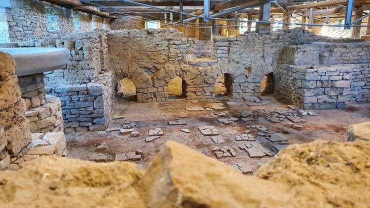 Gut erhalten ist die Hypokeistanlage, also das ausgeklügelte Boden- und Wandbeheizungssystem.