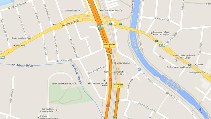 Autobahneinfahrt Baldeggerstrasse.