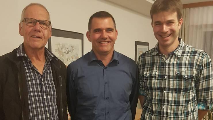 v.l.n.r. Tschopp Anton, Meyer Ruedi, Sacher Ueli