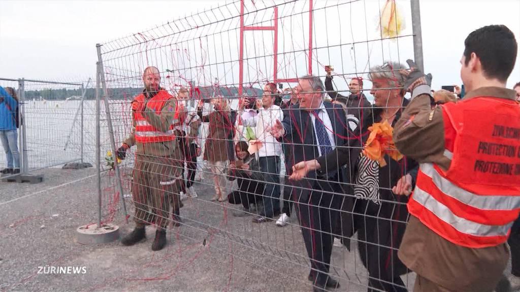 Grenzzaun zwischen Kreuzlingen und Konstanz abgebaut