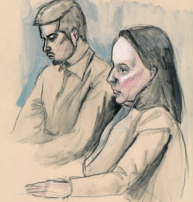 2. Tag Rupperswil-Prozess: Der Angeklagte Thomas N. (hinten) und Verteidigerin Renate Senn