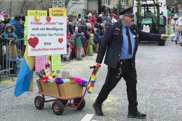 Sex-Polizei, Fasnachtsumzug Brugg, 18. Fenruar 2018. Brugger Fasnacht