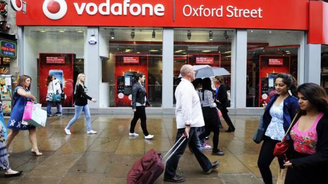 Vodafone-Filiale an der Oxford Street in London (Archiv)