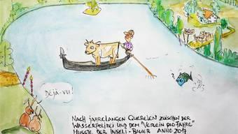 Die Fährengeschichte inspirierte Leser Martin Arbenz aus Lommiswil gar zu einer Karikatur. Martin Arbenz
