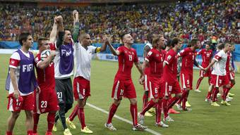 Die Schweizer-Nati nach dem Triumph gegen Honduras.