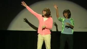 Ein Tänzen mit «Transe»: First Lady Michelle Obama mit Jimmy Follon in dessen Late Night Show.