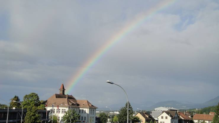 Regenbogen Schnappschuss von Corinne Späti: «Bellach einfach schön»