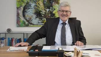 Regierungsrat Roland Brogli am Mittwoch in seinem Büro.