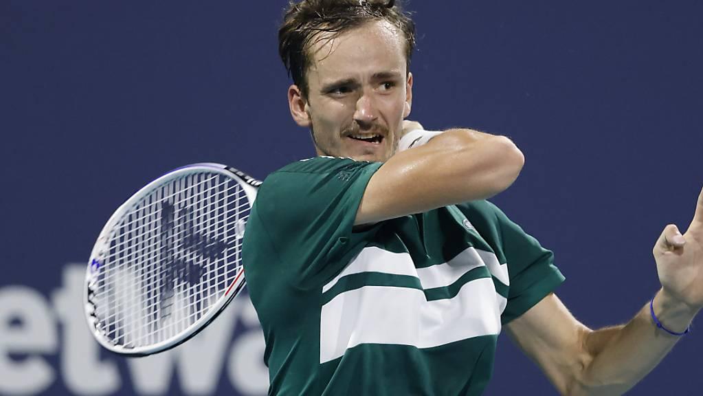 Daniil Medwedew bleibt in Miami am Spanier Roberto Bautista Agut hängen