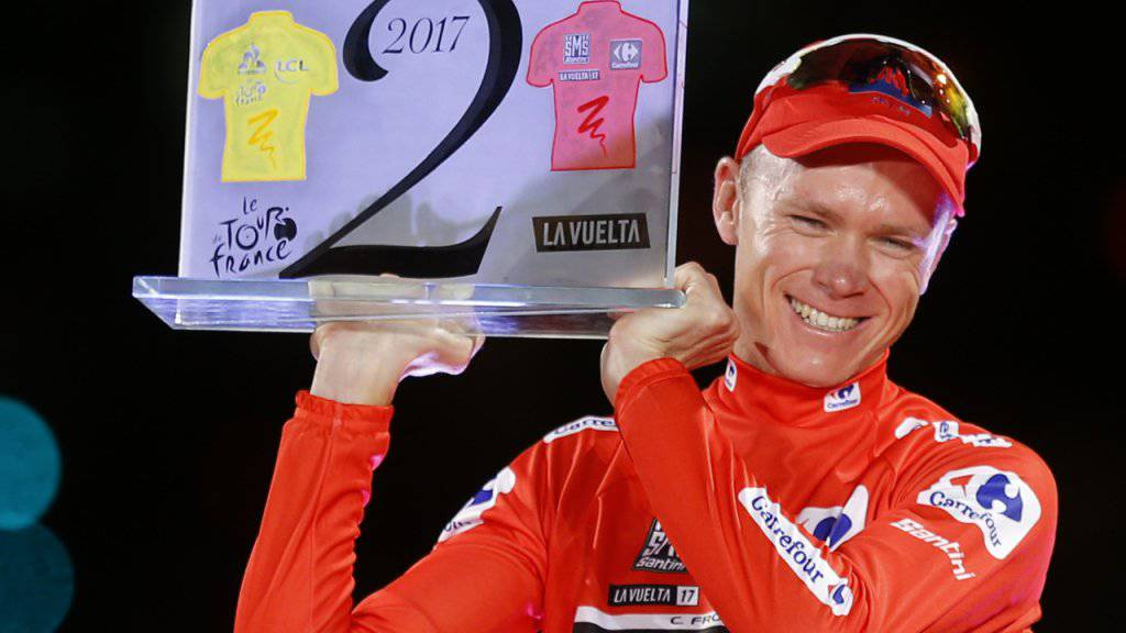 Vuelta-Sieger Chris Froome startet in den WM-Zeitfahren.