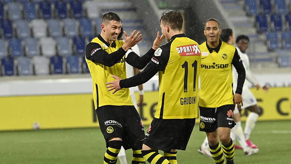 Auch im letzten Match der Saison Berner Torjubel