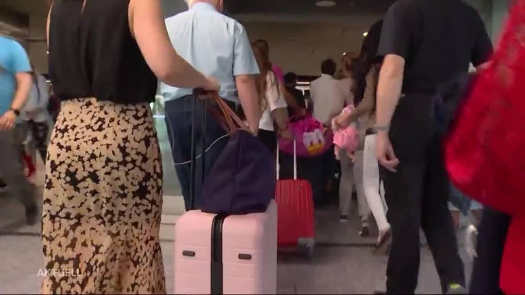 Flughafen Zürich im Stress