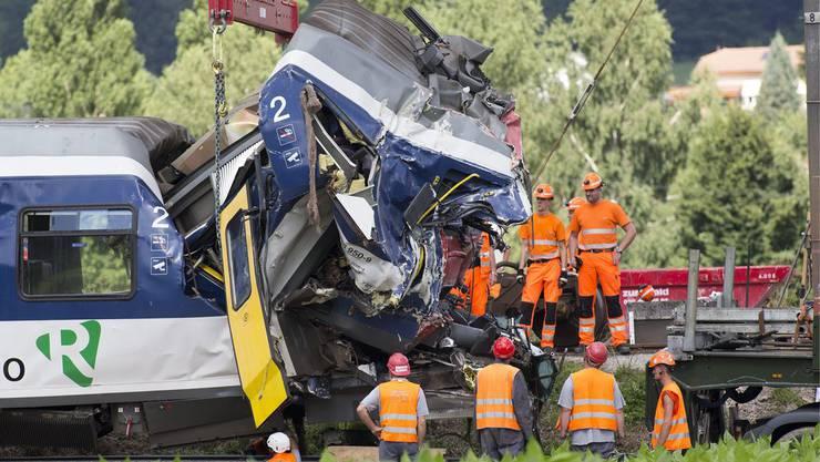 Beim Unfall in Granges-pres-Marnand starb ein Lokführer.