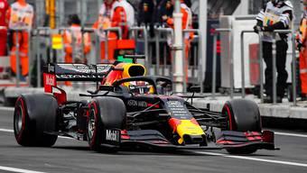 Sicherte sich für den GP von Mexiko am Sonntag die Pole-Position: Max Verstappen im Red Bull