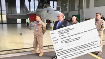 US-Botschafter Ed McMullen machte Ende April am Militärflugplatz in Payerne seine Aufwartung.