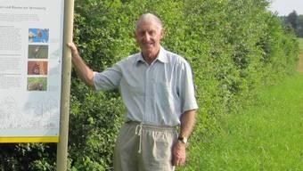 Joe Scherrer hatte auch selber Land gekauft, um eine Hecke zu erstellen.
