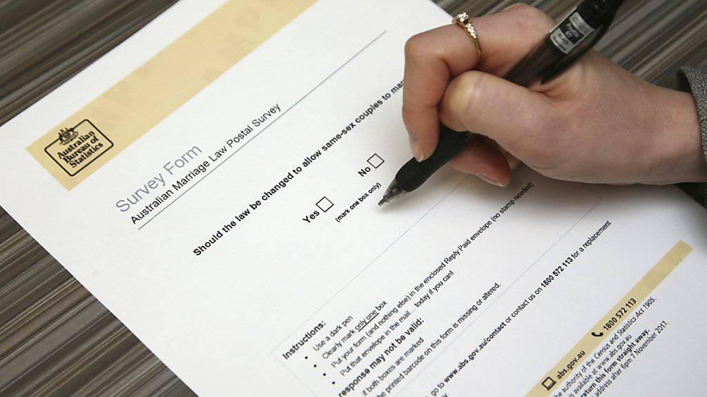 An der Briefumfrage zur Homo-Ehe in Australien können über 16 Millionen registrierte Wähler teilnehmen.
