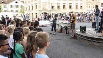 Erster Schultag Primarschule Theodor, Basel-Stadt