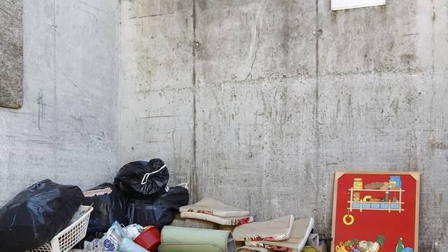 """Müll bei der Deponie """"Steinigand"""" in Wimmis. Hier wurde der Säugling gefunden"""
