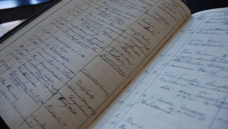 Das Journal mit den Fundgegenständen vom Turnfest 1932.