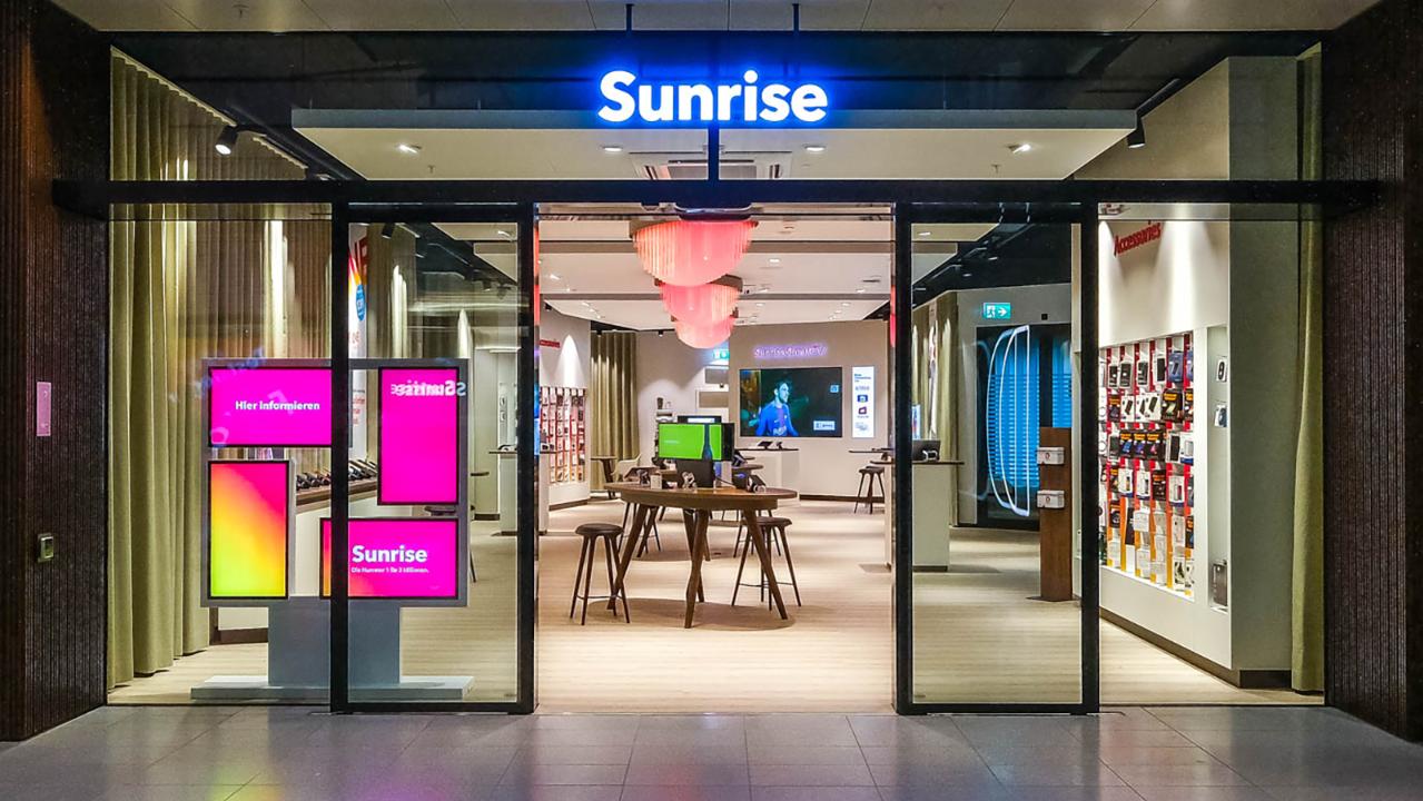 Sunrise erhält den Betrieb aufrecht, 25 Läden sind nach wie vor geöffnet.