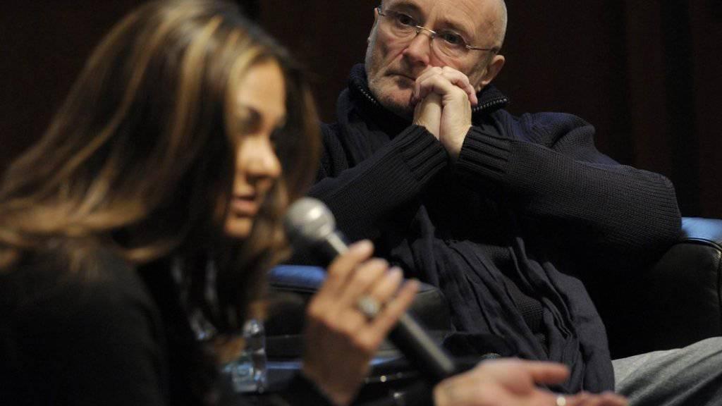 Phil Collins und seine Ex-Frau Orianne 2011 bei der Präsentation der «Little Dreams Foundation». Für die Stiftung unterbricht er jetzt seinen Ruhestand als Sänger (Archiv).