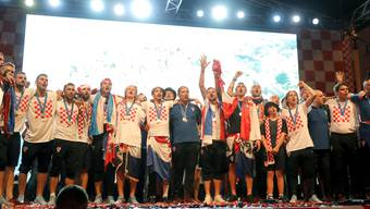 Vize-Weltmeister Kroatien lässt sich nach der Ankunft in der Heimat feiern