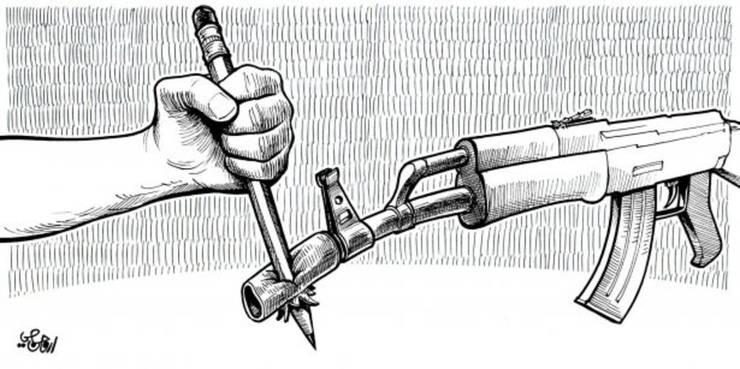 Karikatur in der libanesischen Zeitung «Al-Nahar».