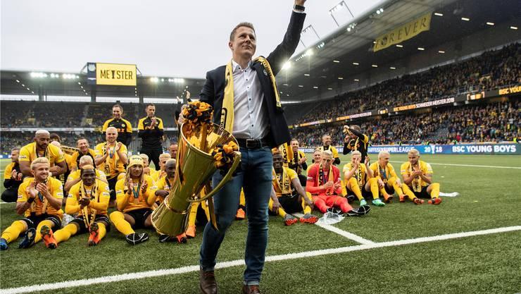 YB-Sportchef Christoph Spycher, eine Vertrauensperson für Bürgy, hält grosse Stücke auf ihn.