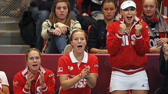 Engagiert: das Schweizer Fedcup-Team