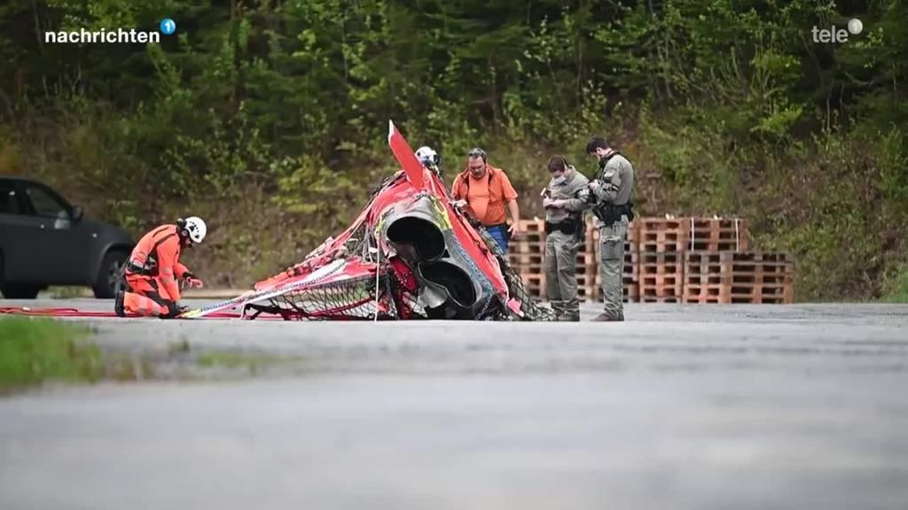 Bergung des abgestürzten Flugzeugs Melchsee-Frutt