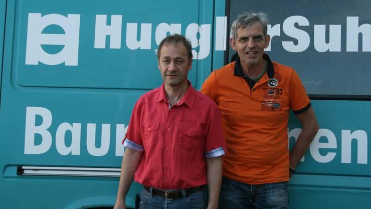 links Alfred Aigner, rechts Martin Gloor