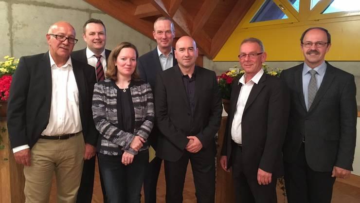 Der neue Vorstand (v.l.): Daniel von Arx, Präsident; Finger Marc, Vizepräsident; Karin Aeschbach, Daniel Schumacher, Dieter Bitterli (Kassier und Verwalter), Markus Studer, Rolf Kocher.