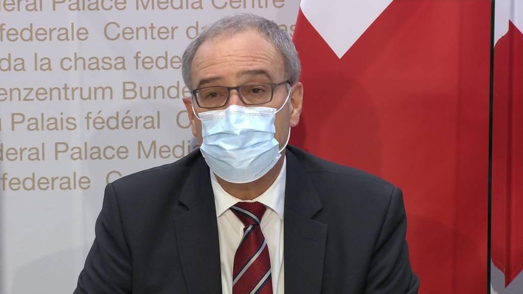 Parmelin: «Verlängerung und Verschärfung der Massnahmen unbedingt notwendig»