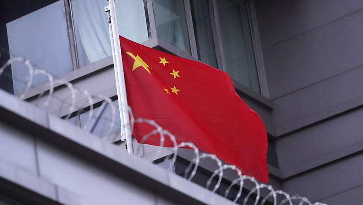 Die Flagge von China weht auf dem Konsulat in Houston. Foto: David J. Phillip/AP/dpa