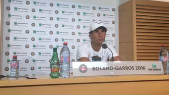 Rafael Nadal an der Pressekonferenz