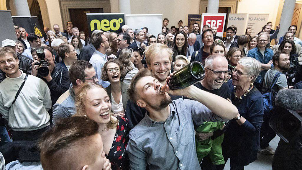 Die Grünen hatten am Sonntag in Luzern allen Grund zum Feiern.