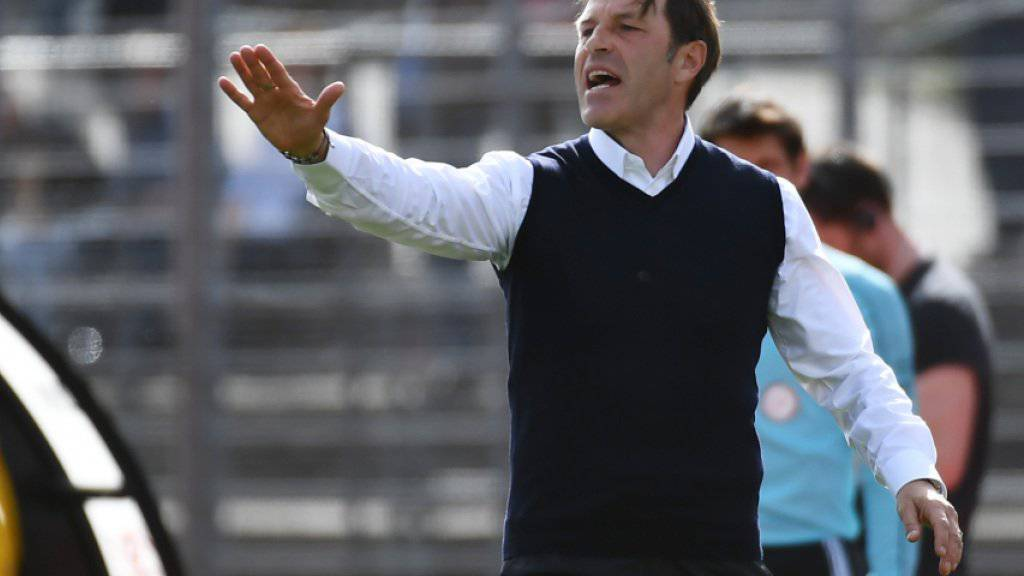 Bald nichts mehr zu sagen in Lugano? Coach Paolo Tramezzani im Spiel am Sonntag gegen YB