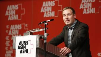 Lukas Reimann wurde am Samstag zum neuen Auns-Präsident gewählt.