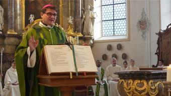 Bischof Felix Gmür predigte bei der feierlichen Errichtung des Pastoralraums Region Laufenburg in der Kirche in Mettau.