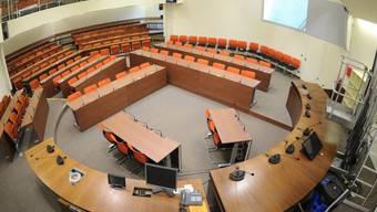 Blick auf einen Gerichtssaal (Symbolbild)