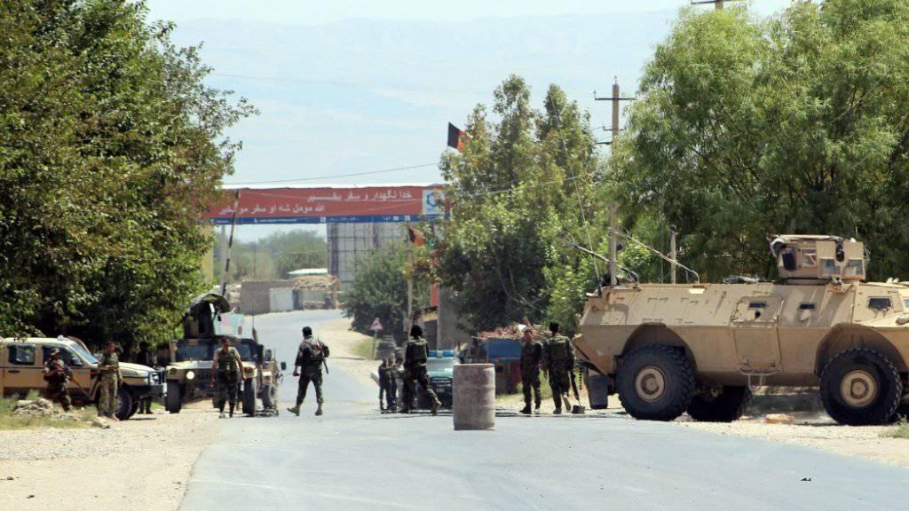 Afghanische Sicherheitskräfte in Kundus.